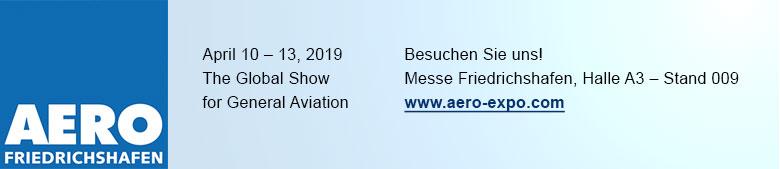 Besuchen Sie uns auf der AERO Friedrichshafen